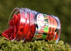 Magic Bait Maden rot mit Fischgeruch, 18 Gramm