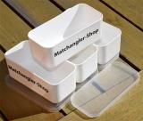 Matchangler-Shop 4 Köderdosen weiss 0.5L mit Deckel- platzsparend