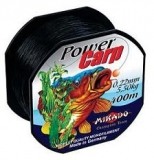 Mikado Schnur Power Carp 400m schwarz, sinkend 0,26-0.33mm
