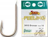 Sensas Haken Feeling 3410 bronze, 1 Pack mit 15 Haken