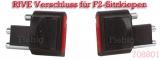 Rive Verschluss-Stecker für F1 Sitzkiepen rot, 1 Paar