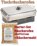 Tischräucherofen Deluxe - Startset mit Räuchermehl