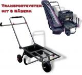 Transportsystem für Sitzkiepen mit 3 Rädern, 87cmx43cm