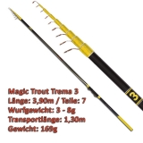 Quantum Teleforellenrute 3.90m Magic Trout Trema 3 mit 3-8g WG