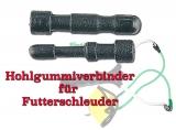 Katapult Ersatzteil Hohlgummi-Konnektor für Futterschleuder, 1 Paar