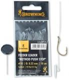 Browning Feeder Leader Method Push Stop Vorfachhaken, 10cm 6 Stück