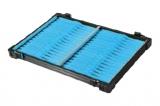 Rive Alu-Fach schwarz Wickelbrettchen 32x aqua-blau
