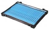 Rive Alu-Fach schwarz Wickelbrettchen 22x aqua-blau